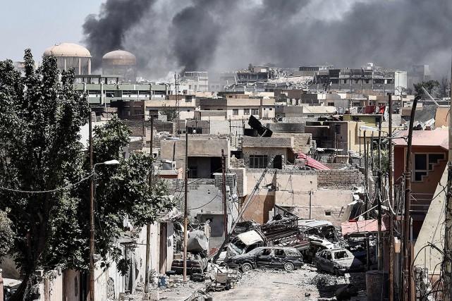 Scène de destruction à Mossoul, en Irak.... (MOHAMED EL-SHAHED, AFP)