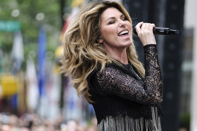 Shania Twain en spectacle au Rockefeller Plaza dans... (Archives, Associated Press)