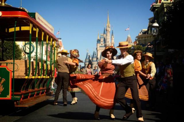 Une scène quotidienne à MagicKingdom, auparc d'attractions Walt... (Photo Bernard Brault, Archives La Presse)