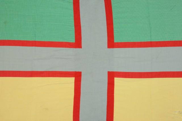 Le drapeau du Saguenay datant de 1938 est en voie d'être reconnu comme bien... (Photo courtoisie)