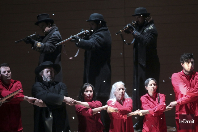 La première de l'opéra Louis Riel a eu... (Étienne Ranger, Le Droit)