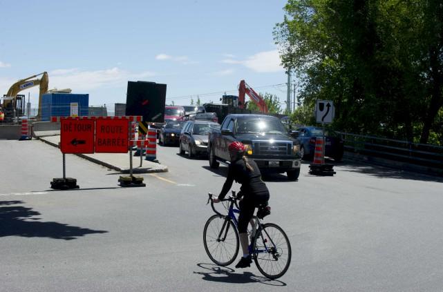 Les travaux en cours sur le viaduc Saint-Marc... (Sylvain Mayer)