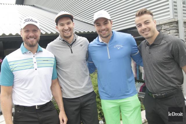 Marc Méthot, Mark Stone, Cody Ceci et Jean-Gabriel... (Étienne Ranger, Le Droit)