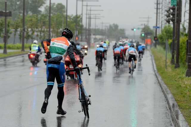 Les cyclistes n'ont pas roulé dans les meilleures... (Photo Le Soleil, Érick Labbé)