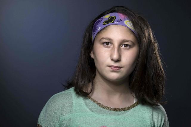 Myriam Rawick, 13 ans, chrétienne d'origine arménienne, a... (AFP, Joël Saget)
