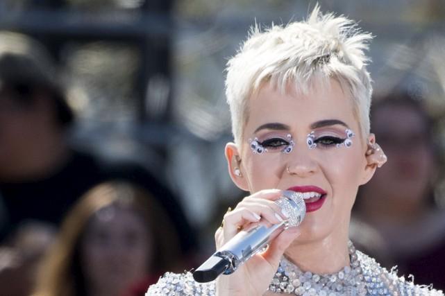Katy Perry est devenue la première personnalité à... (AFP, Valérie Macon)