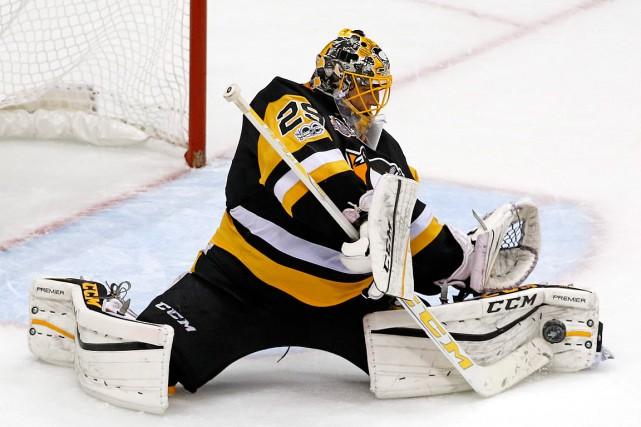 Les Penguins ont préféré protéger le gardien Matt... (PHOTO GENE J. PUSKAR, ARCHIVES ASSOCIATED PRESS)