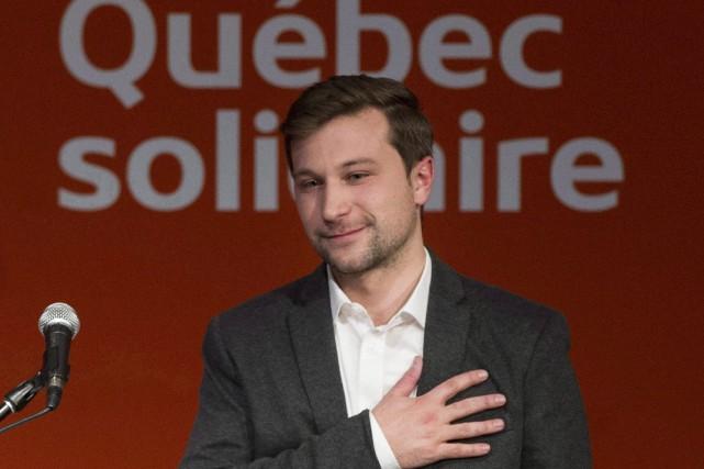 Selon Gabriel Nadeau-Dubois,Québec solidaire est aux portes du... (Photo Graham Hughes, archives La Presse canadienne)