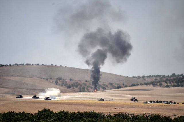 Le communiqué de l'armée syrienne précise que «l'avion... (ARCHIVES AFP)
