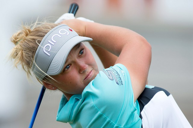 Brooke Henderson... (PHOTO FRANK GUNN, ARCHIVES LA PRESSE CANADIENNE)