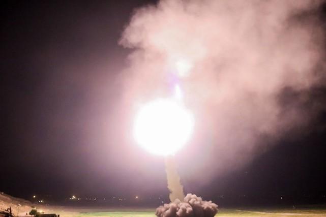 Il s'agit des premiers tirs de missiles de... (PHOTO AFP)