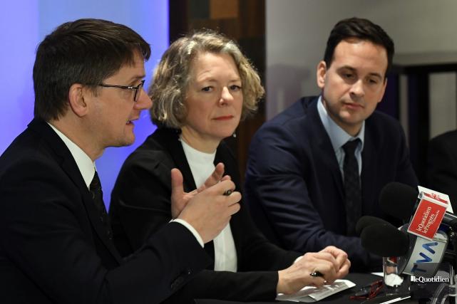 Sylvain Gaudreault, Mireille Jean et Alexandre Cloutier, les... (Archives Le Quotidien, Rocket Lavoie)