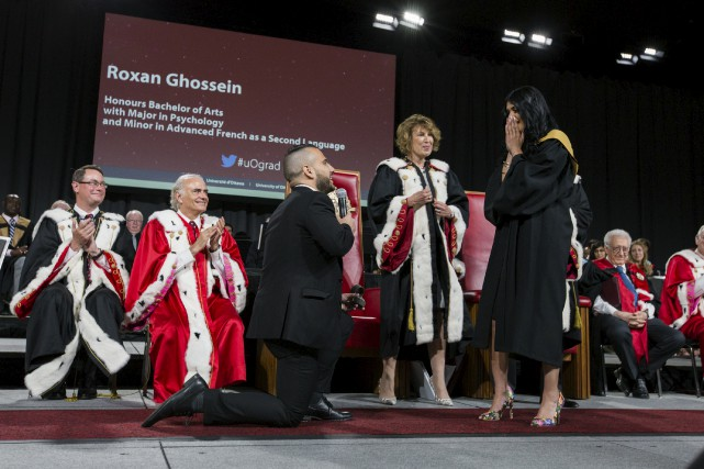 Dany Raffoul a fait la grande demande à... (Courtoisie Université d'Ottawa)