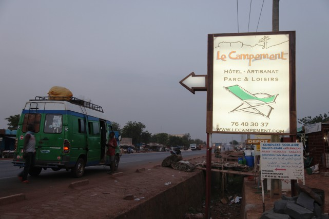 La cible, le campement Kangaba, évoque d'autres sites... (PHOTO AP)