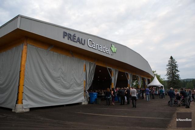Le préau Canadel de Saint-Alexis-des-Monts a été inauguré... (Olivier Croteau, Le Nouvelliste)