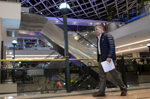 Le président colombien, Juan Manuel Santoss'est rendu, dimanche,... (AFP, Raul Arboleda)