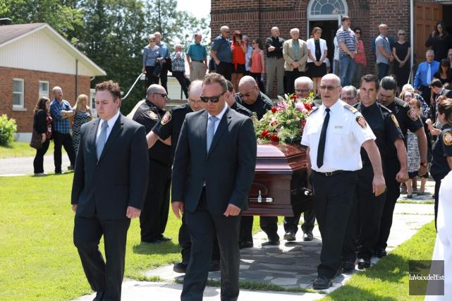Les funérailles de Réal Pelletier, maire de Saint-Armand... (Catherine Trudeau, La Voix de l'Est)