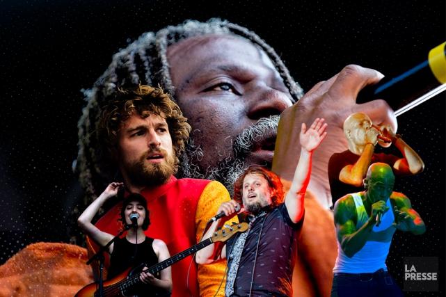 Les FrancoFolies ont pris fin hier dans un marathon de neuf heures de musique... (Photomontage La Presse)