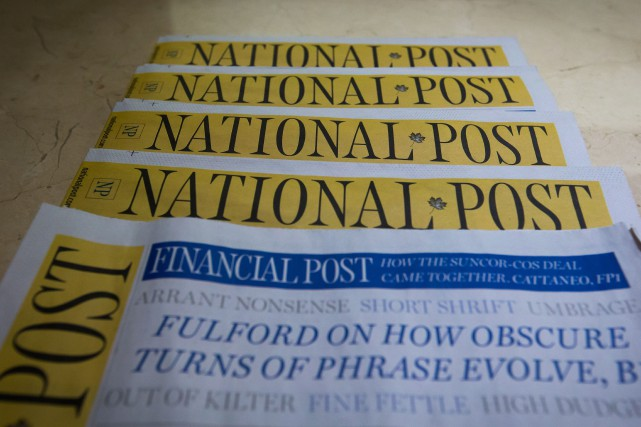 Le National Post faisait déjà l'impasse sur son édition... (THE CANADIAN PRESS)