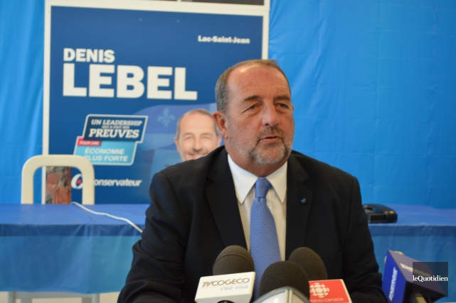 Denis Lebel est un gagnant. Un politicien qui a été ministre et qui se voit... (Photo Le Quotidien, Louis Potvin)