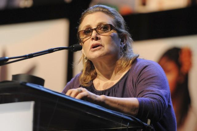 Carrie Fisher a été emmenée dans un hôpital... (AFP, ANGELA WEISS)