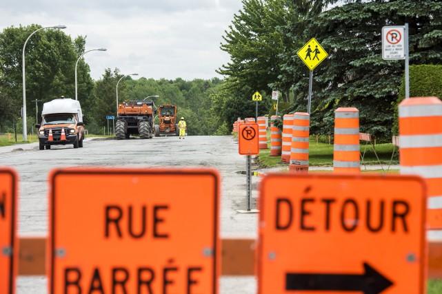 Les travaux publics de la Ville de Sherbrooke... (Spectre Média, Jessica Garneau)
