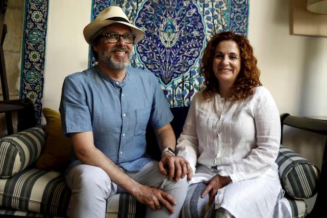 Les éditeurs du recueil, le couple Michael Chabon/Ayelet... (AFP, Menahem Kahana)