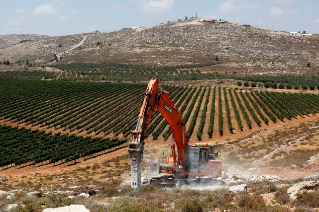 La colonie d'Amichai, la première dont la construction... (PHOTO REUTERS)