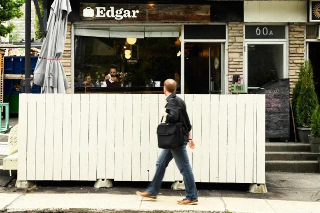 Malgré sa petite taille, le restaurant Edgar sert... (Photo Bernard Brault, La Presse)