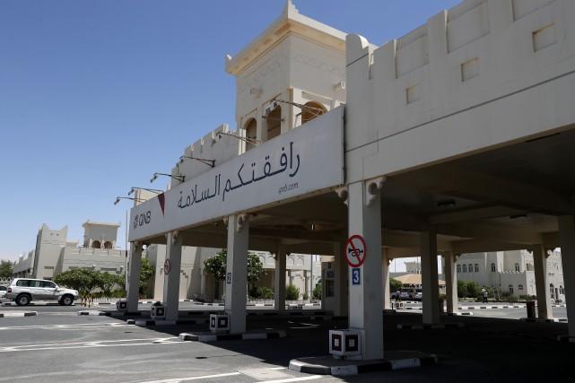 Le côté qatari d'Abou Samra, poste frontière entre... (PHOTO AFP)