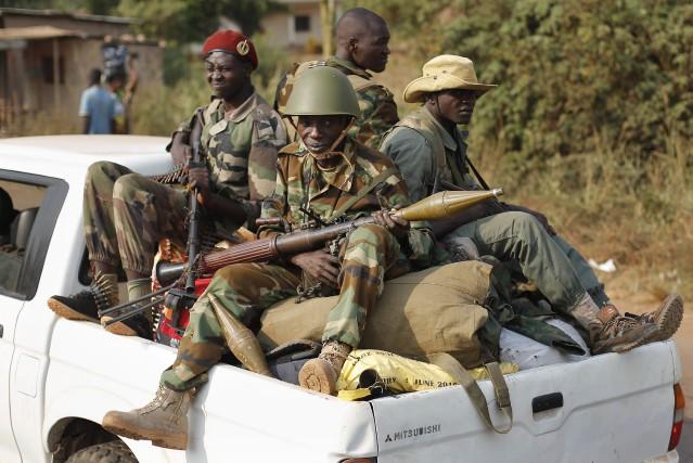 Des membres d'un groupe de l'ex-coalition musulmane Séléka... (Photo Jerome Delay, archives Associated Press)