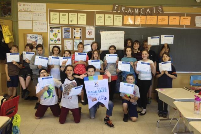 La classe combinée de 5e et 6e année... (fournie par Sandy Léonard)
