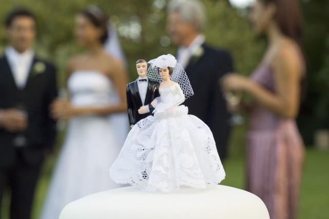En 2016, près de 30% des mariages de... (ARCHIVES AFP)