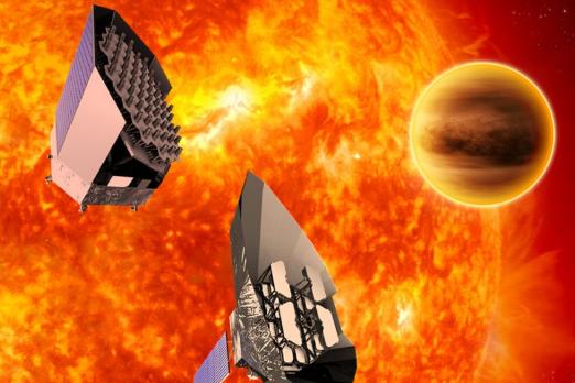 Le lancement de PLATO, qui étudiera les transits... (ILLUSTRATION FOURNIE PAR ESA)