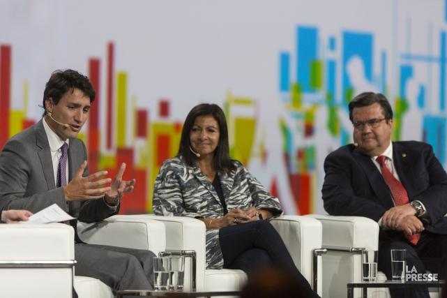 Justin Trudeau a pris part à une discussion... (PHOTO OLIVIER JEAN, LA PRESSE)