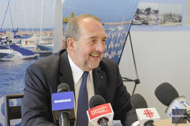 Denis Lebel avait annoncé son retrait de la... (Photo Le Quotidien, Gimmy Desbiens)