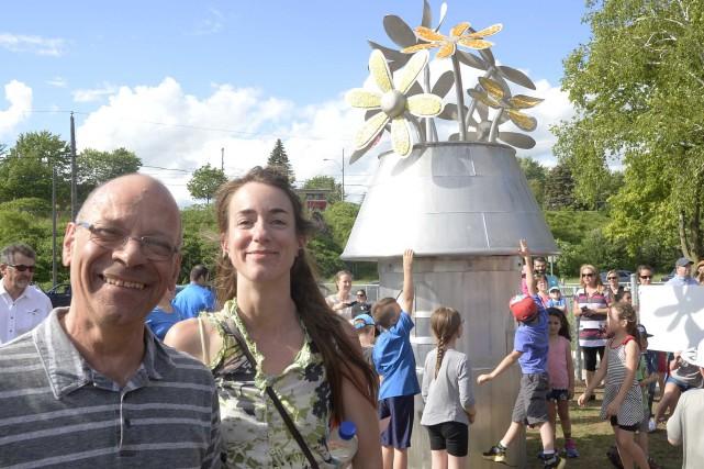 Une grande sculpture a été inaugurée mardi à... (Sylvain Mayer, Le Nouvelliste)