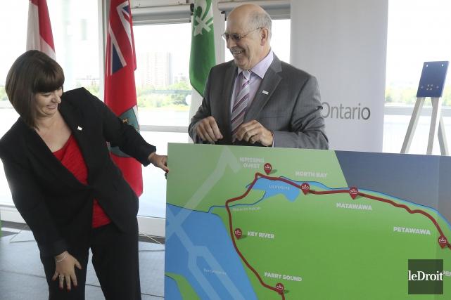 La ministre des Affaires francophones de l'Ontario, Marie-France... (Patrick Woodbury, Le Droit)