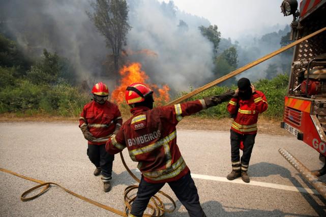 Le président de la Ligue des pompiers a... (PHOTO REUTERS)