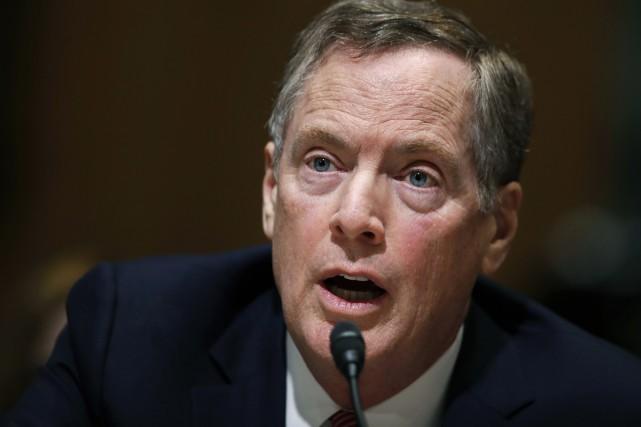 Le représentant américain au Commerce Robert Lighthizer a... (PHOTO ARCHIVES AP)