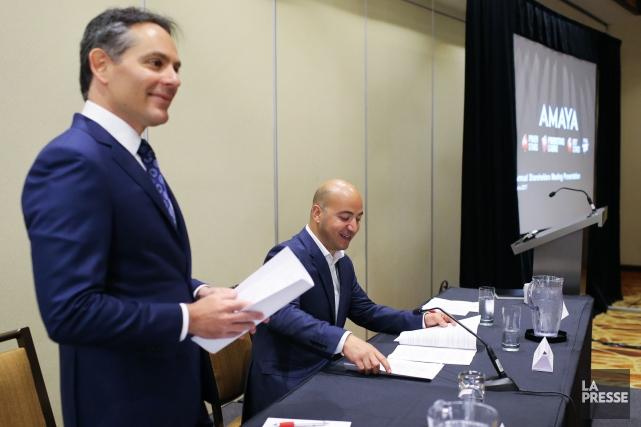 À gauche sur la photo, Marlon Goldstein, vice-président... (PHOTO MARTIN TREMBLAY, LA PRESSE)