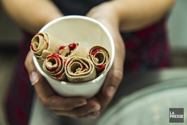 Les ice cream rolls, rebaptisés bûches par les... (Fournie par La Bûche Glacée)