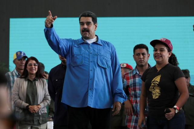 Le président vénézuélien Nicolas Maduro... (PHOTO REUTERS/GOUVERNEMENT VÉNÉZUÉLIEN)