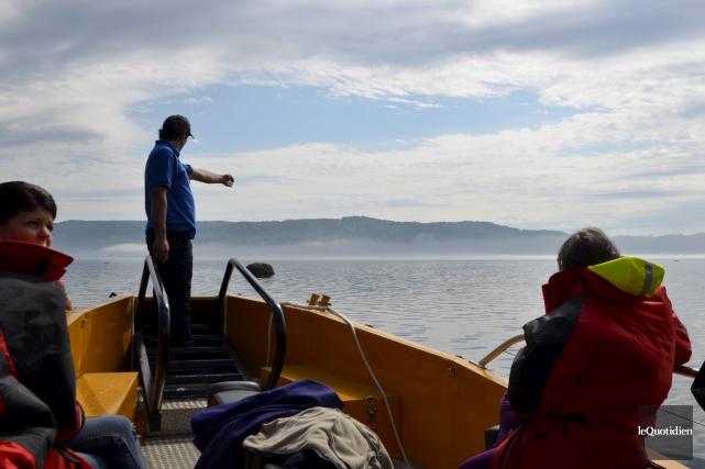 Le zodiac permet d'embarquer 24 passagers pour la... (Photo Le Quotidien, Pauline Mourrat)