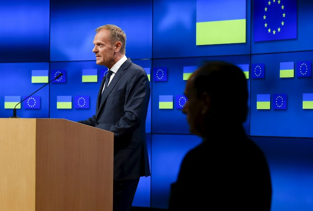 Le président du Conseil européen Donald Tusk a... (AFP, JOHN THYS)