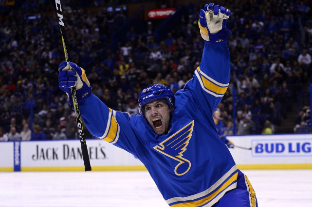 L'attaquant David Perron a été sélectionné par les... (Photo Jeff Curry, USA Today Sports)