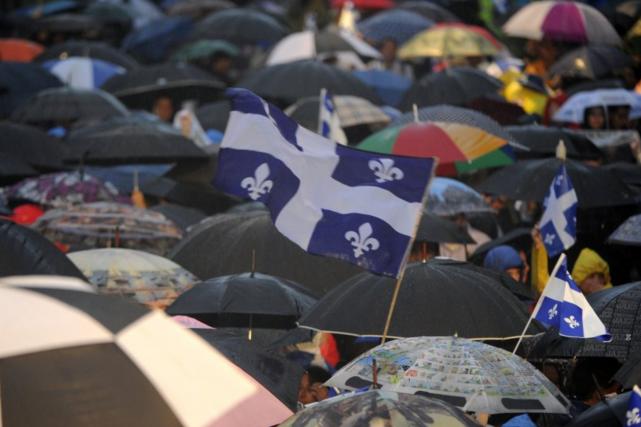 Environnement Canada prévoit «plusieurs bandes de pluie» sur... (Bernard Brault, archives La Presse)