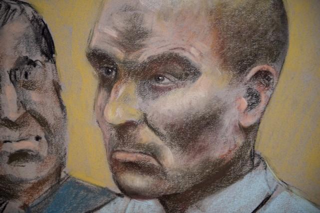 Illustration de Bernard Charest au palais de justice... (La Presse Canadienne, Mike McLaughlin)