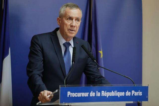 Le procureur de Paris,François Molins, lors d'une conférence... (AFP)