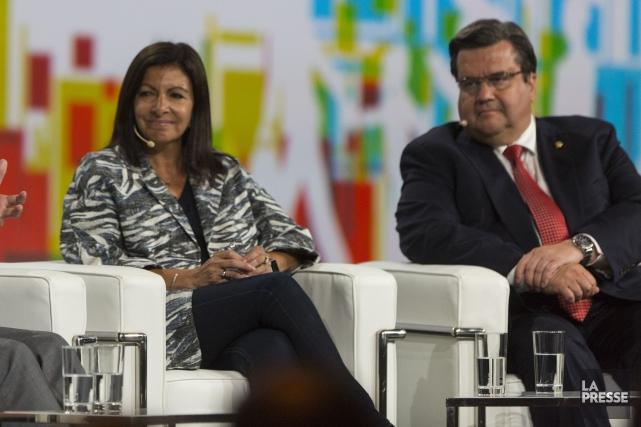 La mairesse de Paris, Anne Hidalgo, et le... (Photo Olivier Jean, La Presse)